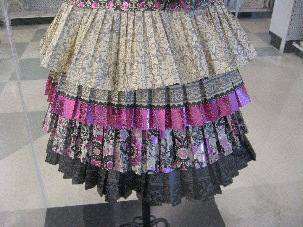 Paper Dress Bottom View