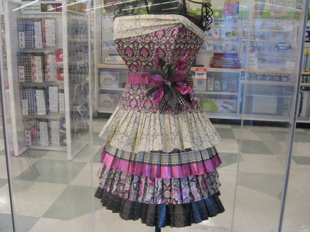 Scrapbook Paper Dress