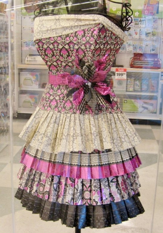 Scrapbook-Paper-Dress-Upcycled