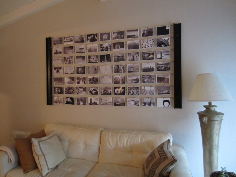 Diy photo wall d cor idea - Decorated walls living rooms ...