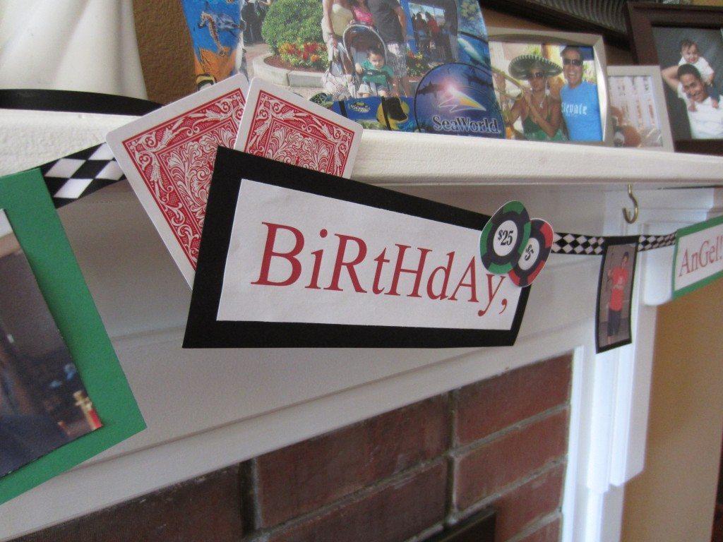 Poker Birthday Banner