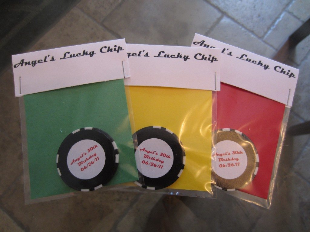Poker Chip Favor