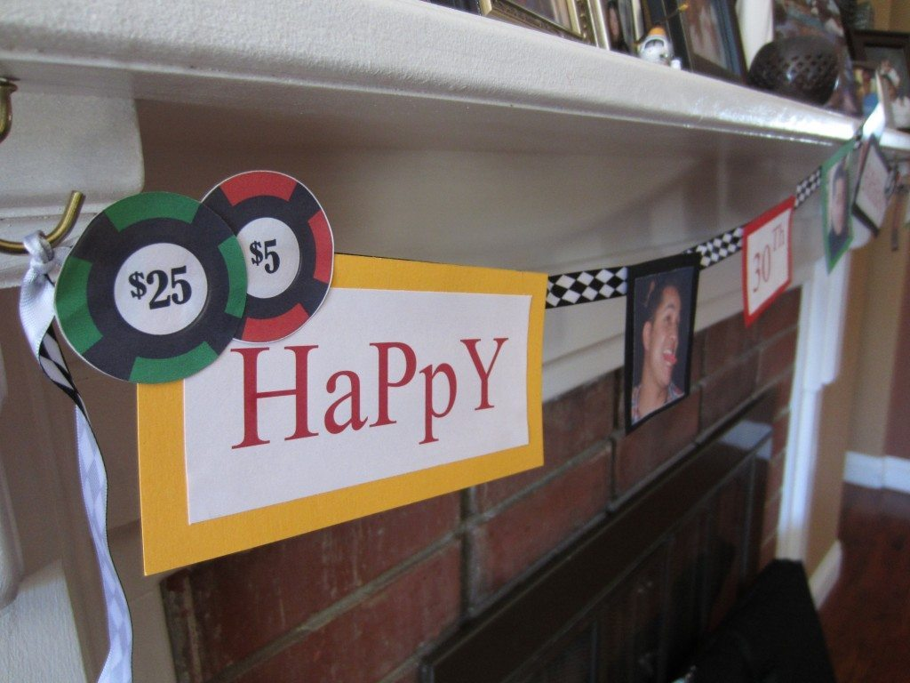 Poker Happy Birthday Banner & Poker Party Ideas - DIYInspired.com