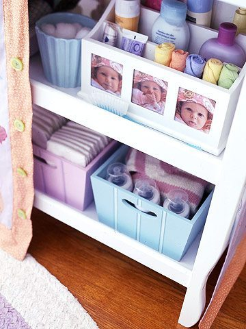 Repurposed kid s storage solutions diy inspired for Baby organizer ideas