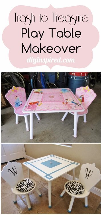 Trash to Treasure Play Table Makeover