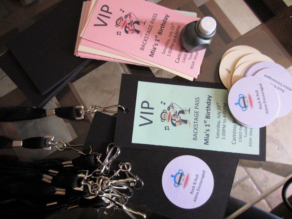 Backstage Pass Invitations DIY