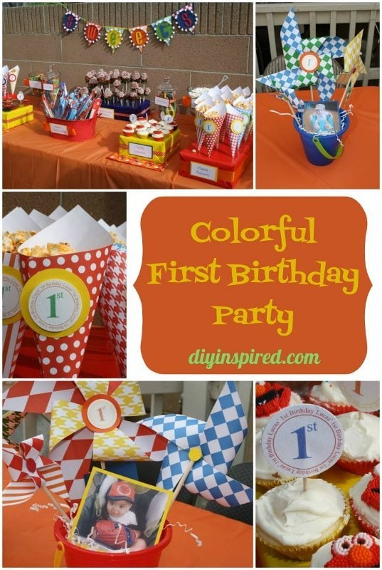 Colorful First Birthday Party DIY Decoration Ideas - DIY Inpired