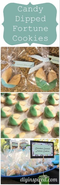 How to Make Candy Dipped Fortune Cookies