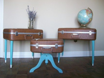 Repurposed Suitcase Table