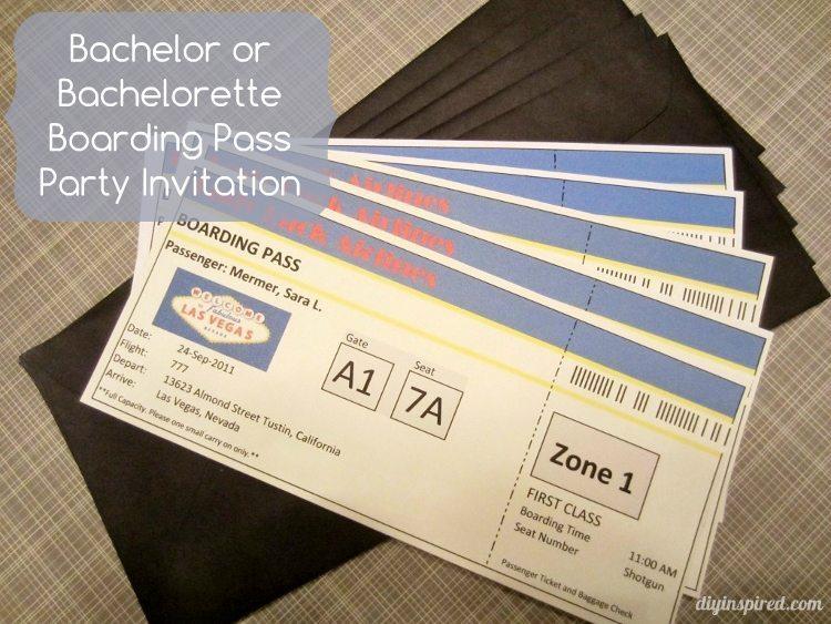 Boarding Pass Invitations DIY Inspired