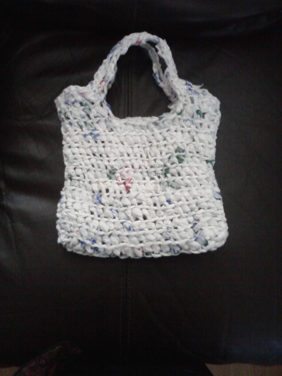Crochet recycled plastic bags - Recycled Plastic Grocery Bags