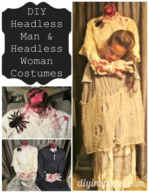 DIY Headless Man and Headless Woman Halloween Costumes