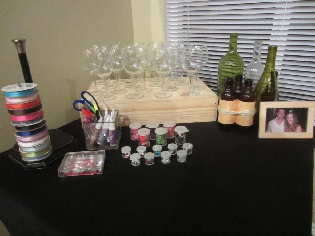 Decorate a wine glass