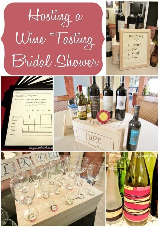 Hosting a Wine Tasting Bridal Shower