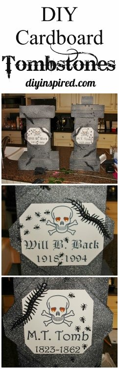 How to make tombstones out of cardboard