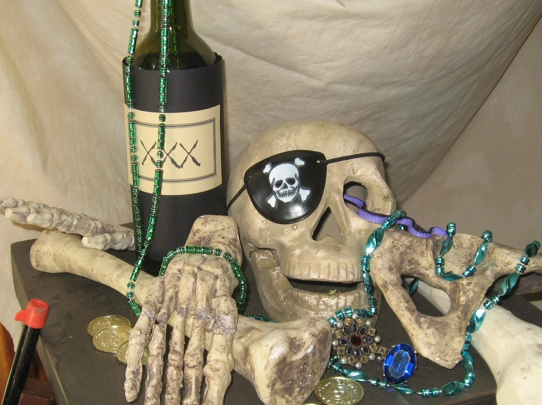 Pirate Wine Bottles - DIY Inspired