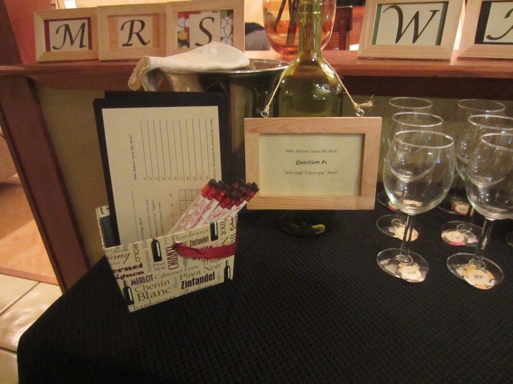 Trivia Wine Bottle Frame