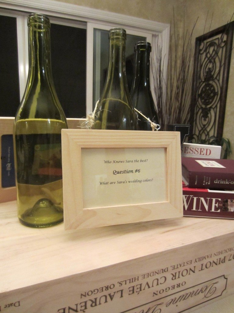 Trivia Wine Bottle Frame 3