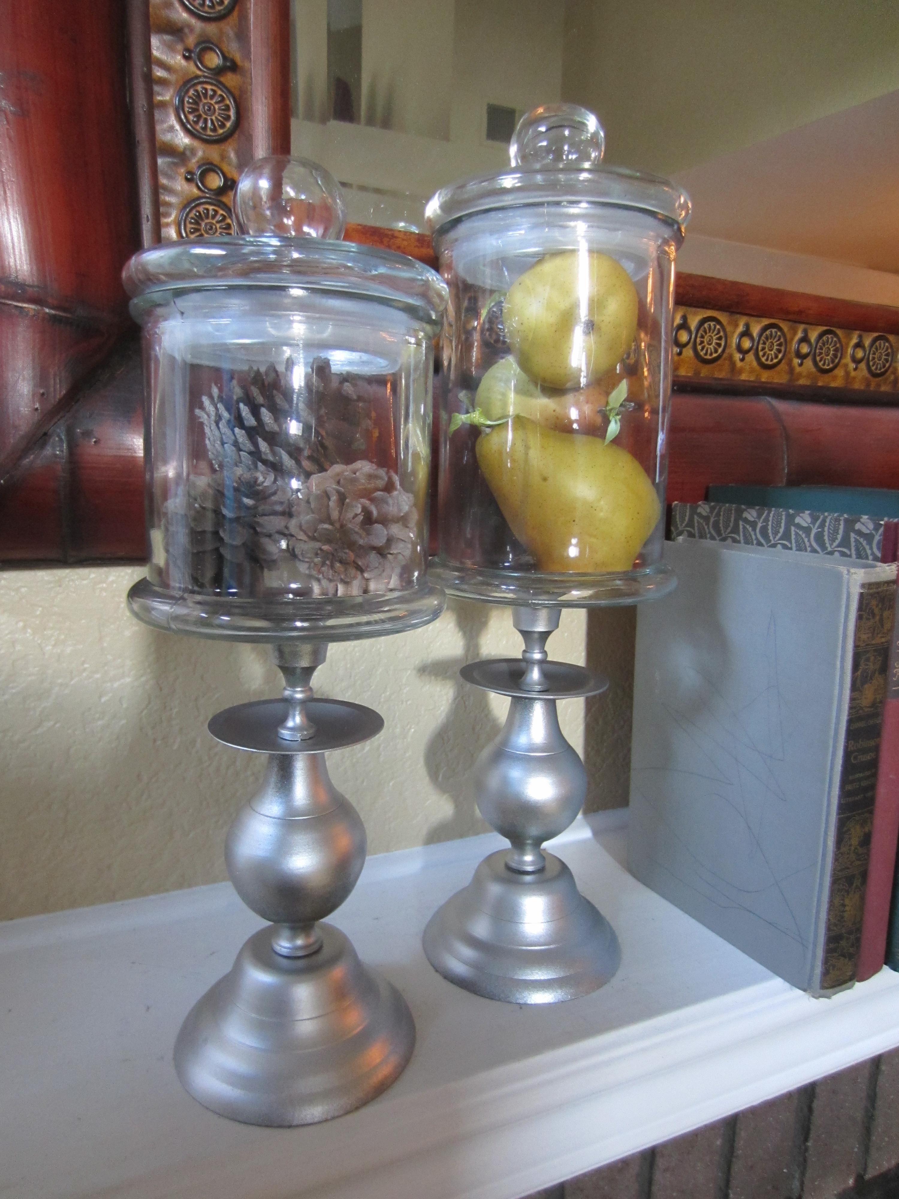 Apothecary Jar Decor Diy Candlestick Candy Jars  Apothecary Jars  Pinterest  Craft