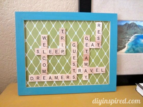 Scrabble Art Diy Inspired