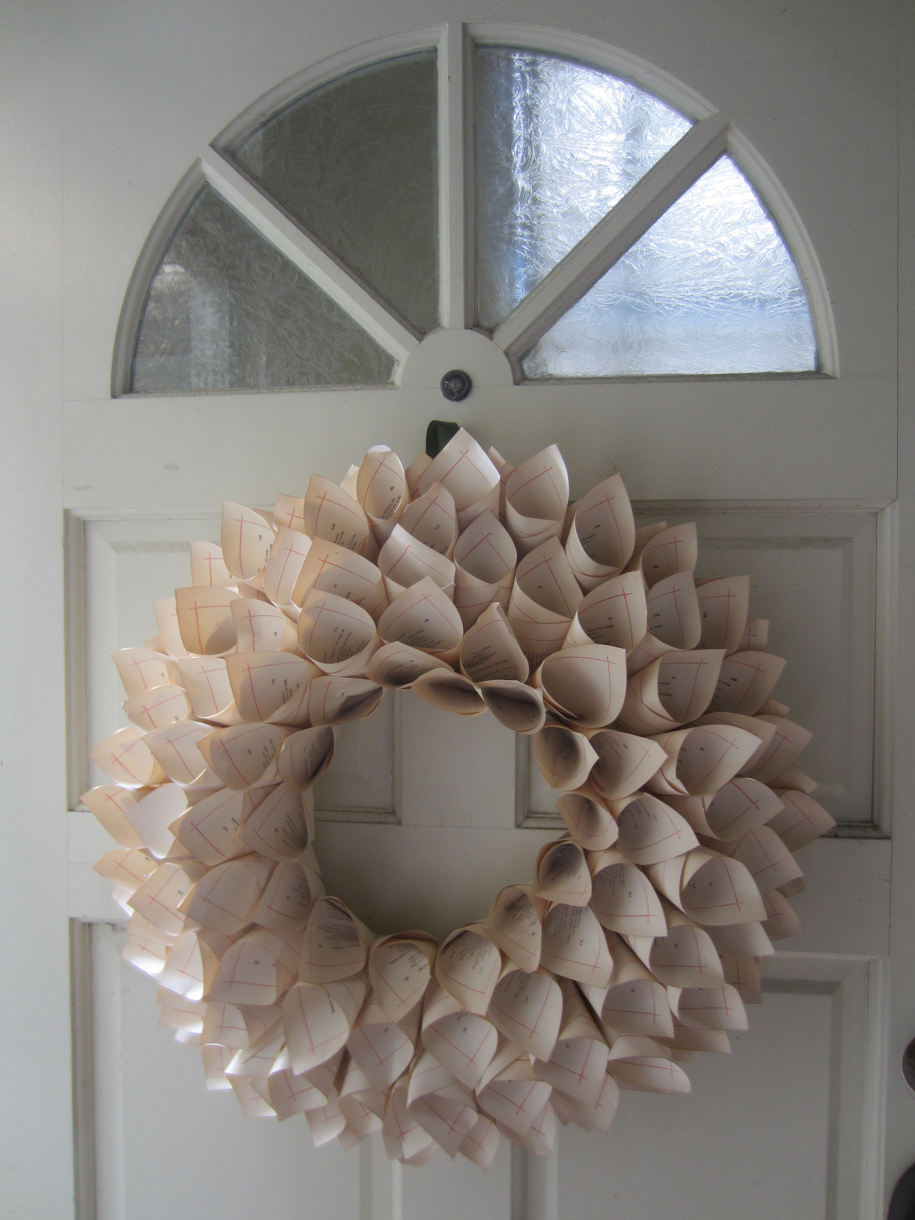 Book page wreath diy inspired for Diy crafts from recycled materials