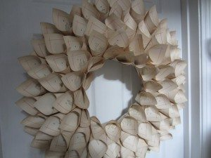 Recycled Book Page Wreath 027