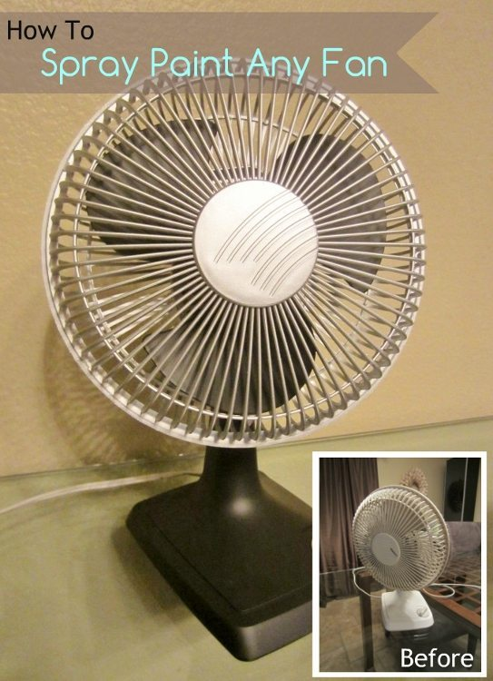 How to Spray Paint Any Fan