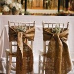 Burlap Wedding Chairs