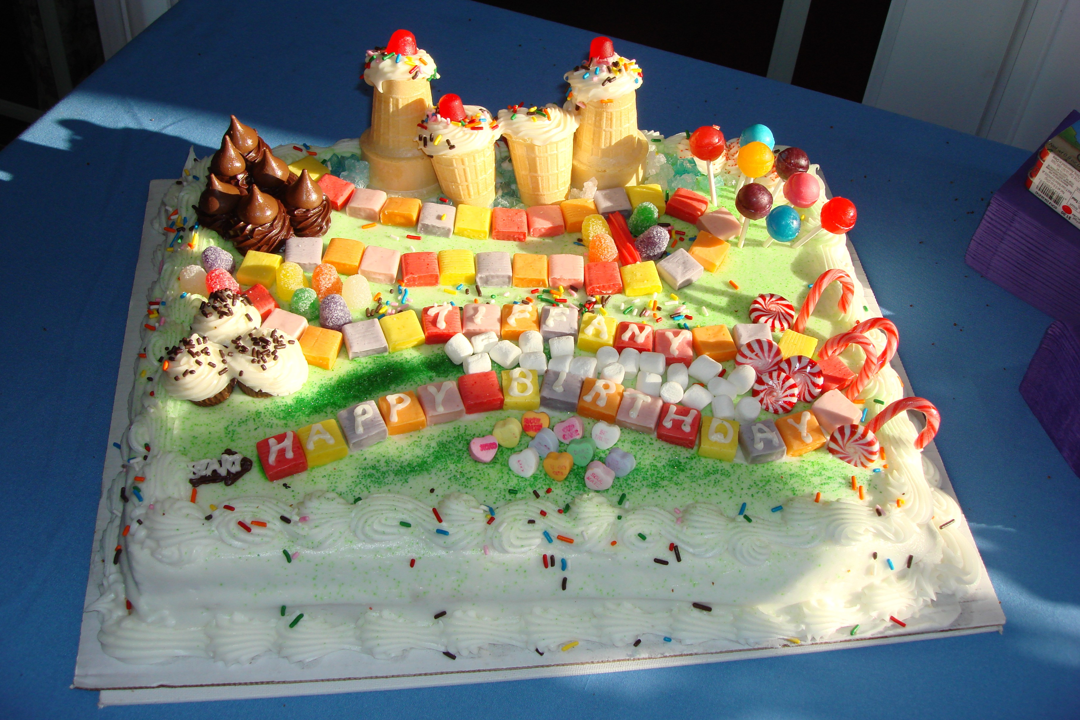 A homemade Candy Land Birthday