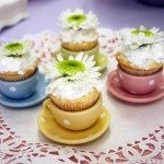 Mini Cupcakes in Tea Cups