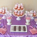Pink and Purple Dessert Table