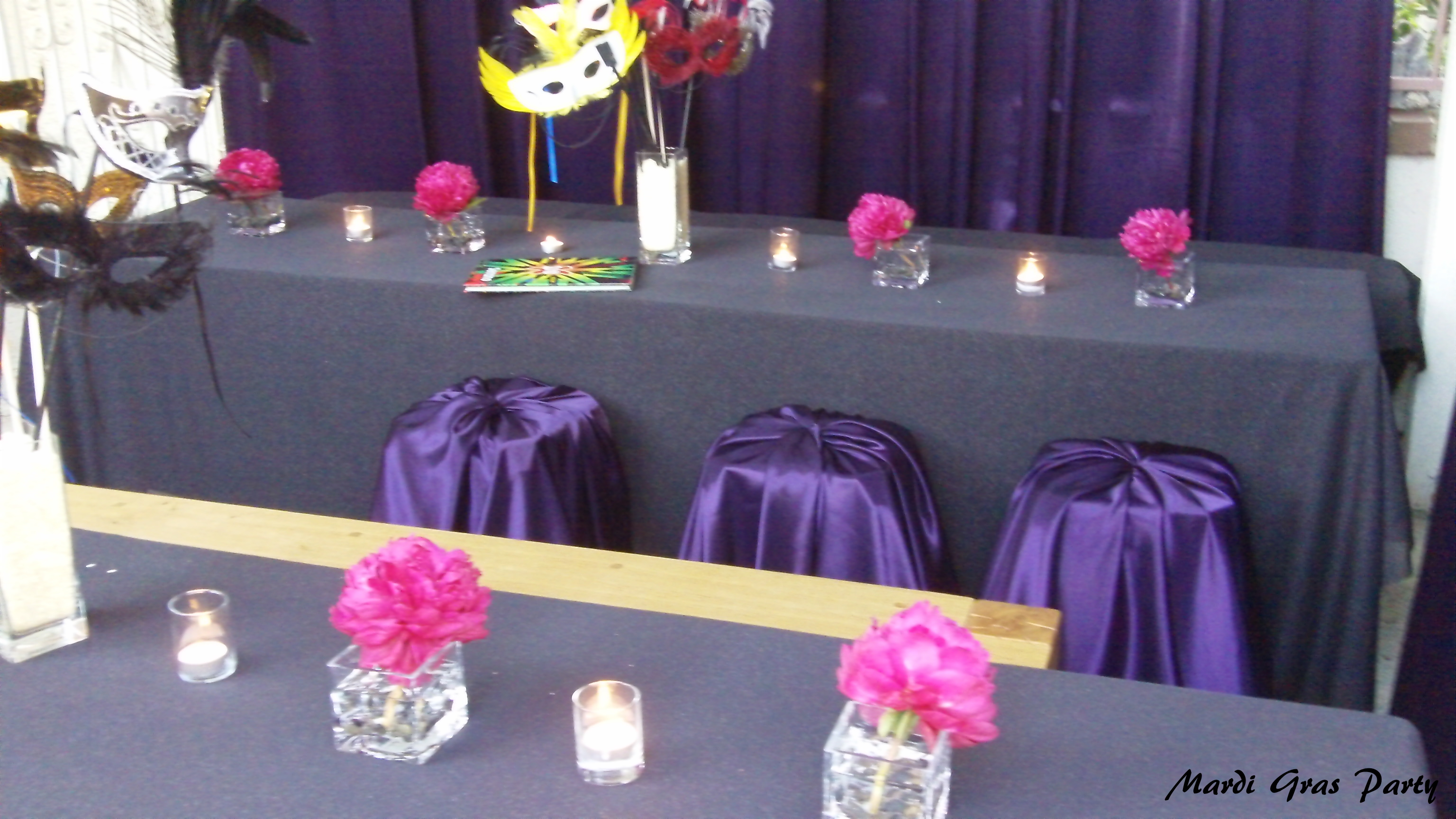 Purple and pink masquerade party diy inspired