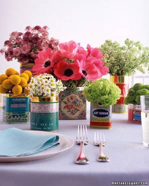 recycled-tin-bridal-shower-centerpiece » DIY Inspired