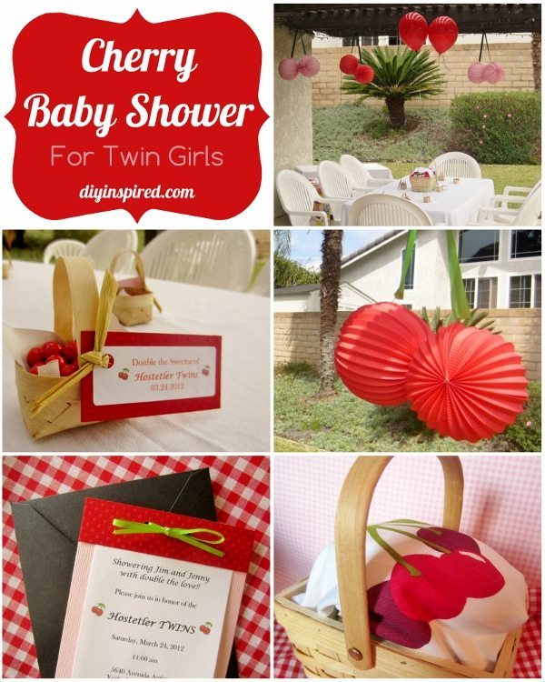 Cherry Baby Shower for Twins DIY Inspired