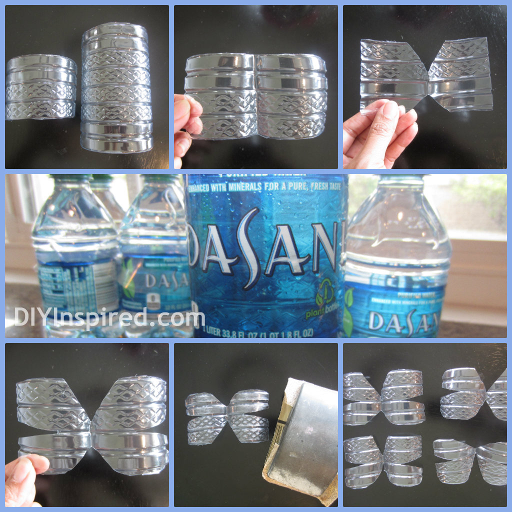 Recycled water bottle butterfly diy inspired for Cut top off bottle