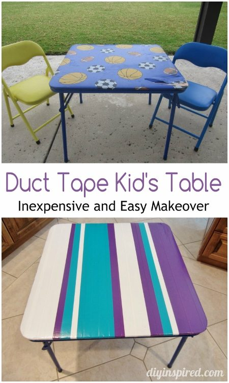 Duct Tape Kids Table Makeover