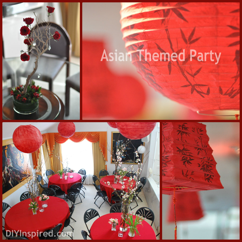 Asian themed party diy inspired for Asian party decoration
