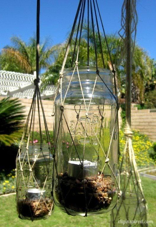 DIY Macrame Mason Jar Lanterns Tutorial