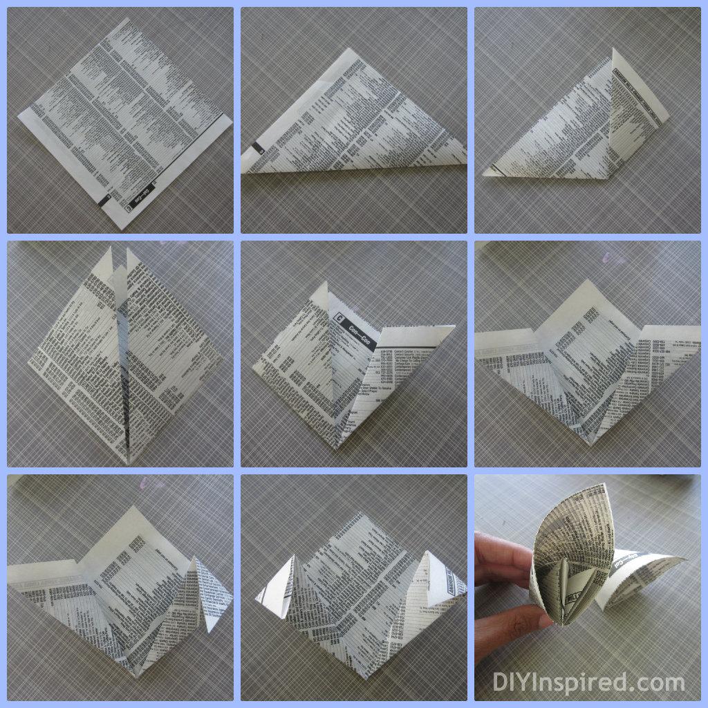 Easy Origami Kusudama Flower Folding Instructions