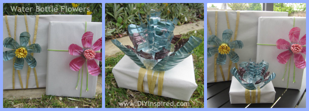 Recycled water bottle flowers diy inspired - Plastic bottles recycling ideas boundless imagination ...