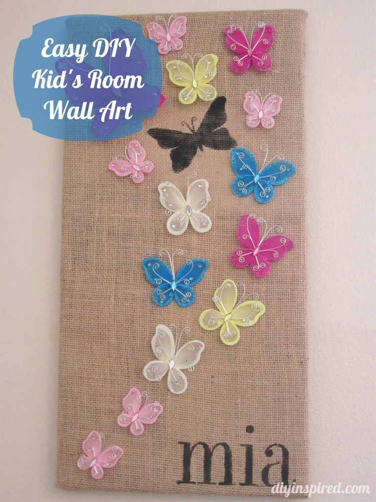 Easy DIY Kid's Room Wall Art - DIY Inspired