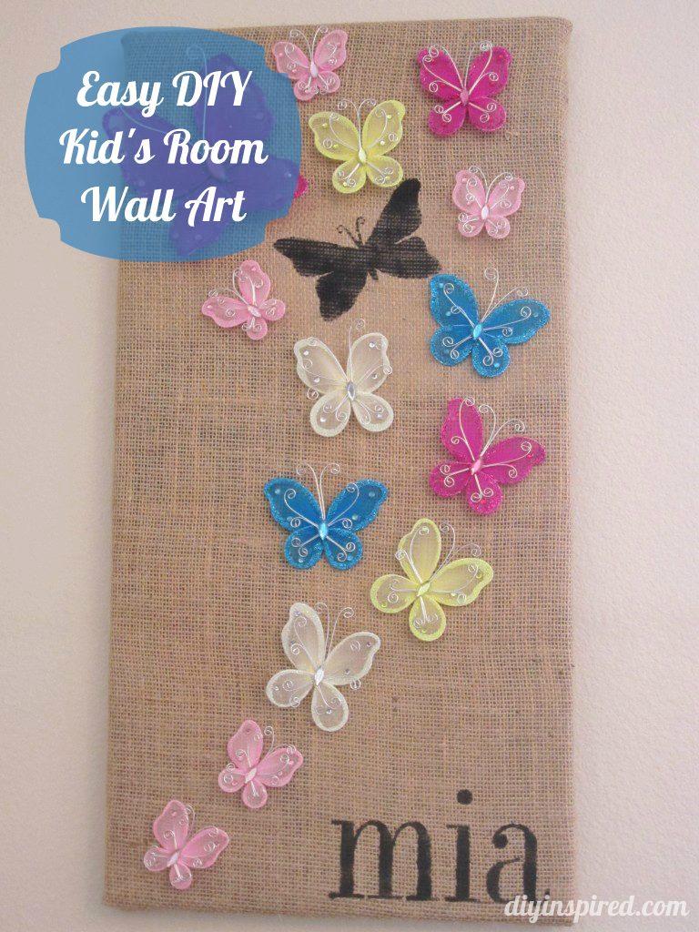 Easy DIY Kid's Room Wall Art - DIY Inspired
