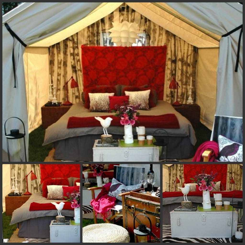 Diy glamping ideas for Glamping ideas diy