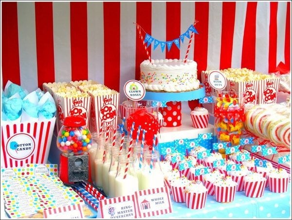 Circus theme party ideas diy inspired for Party decorations you can make at home