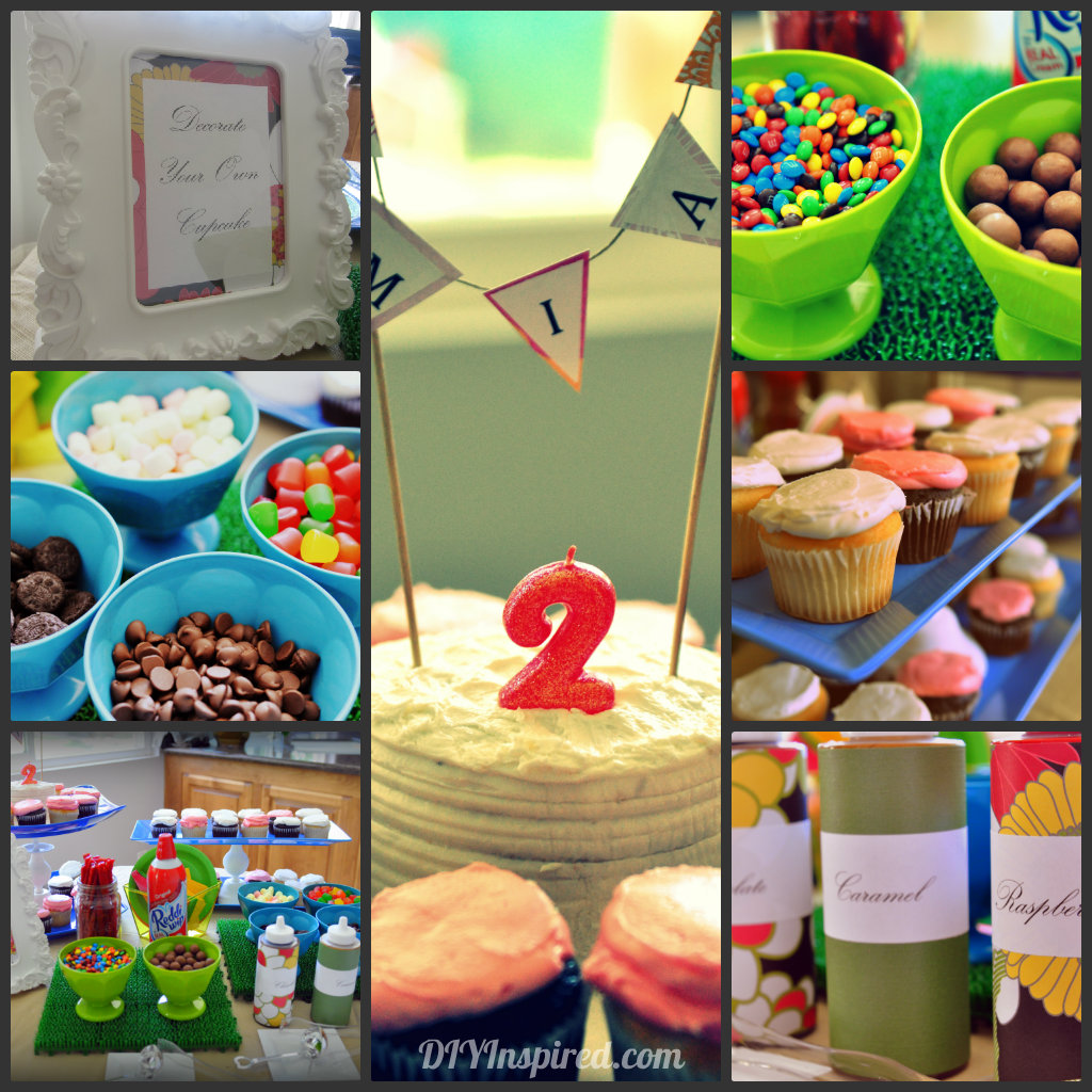 party birthday summer food cupcake bar drink diy decorating station thank collage blast couldn