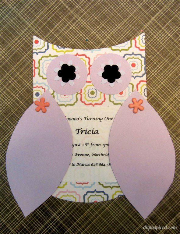 DIY Owl Invitation Paper Craft