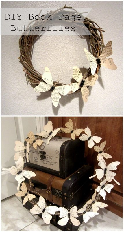 DIY Paper Butterflies from Damaged Books - DIY Inspired