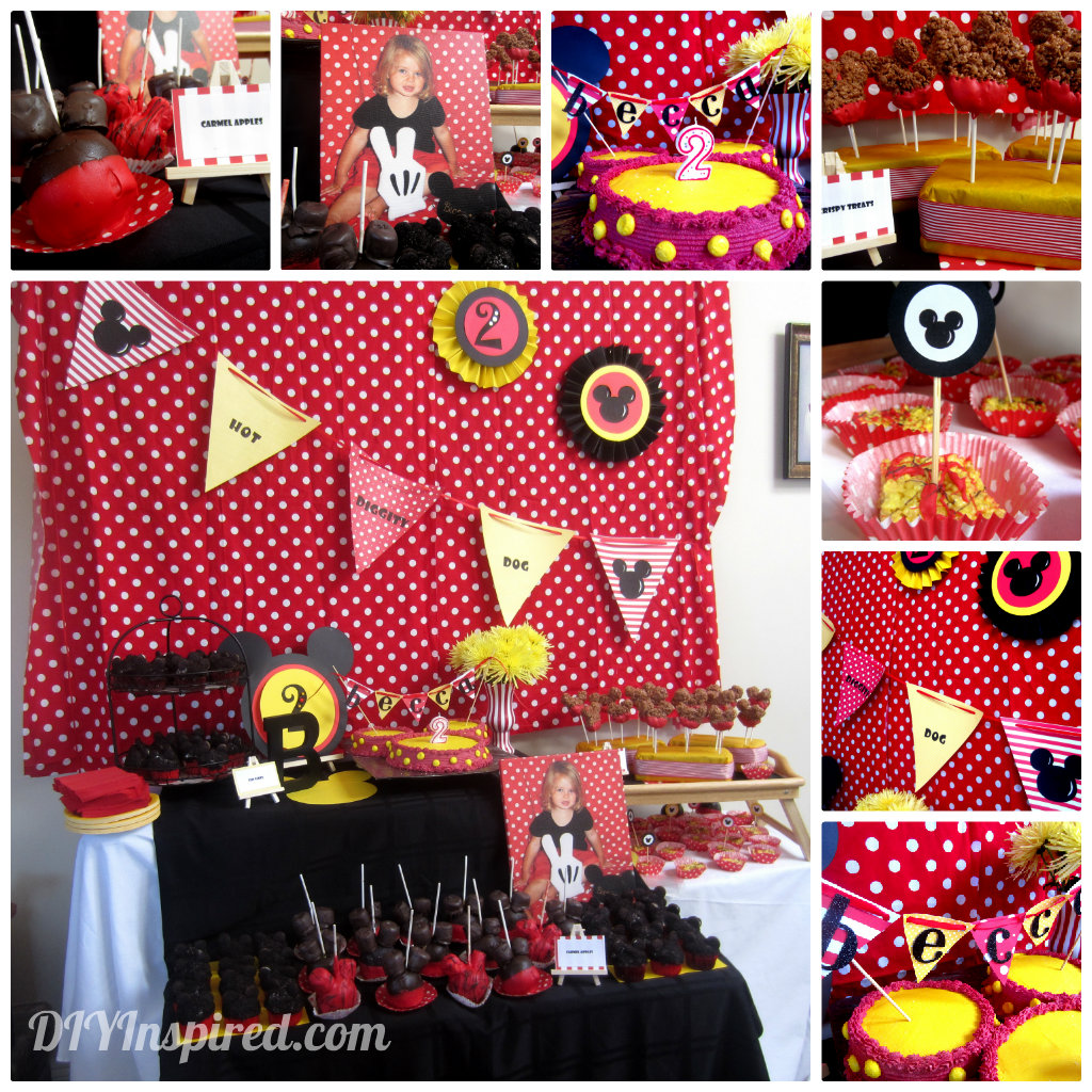 Mickey Mouse Theme Party - DIY Inspired