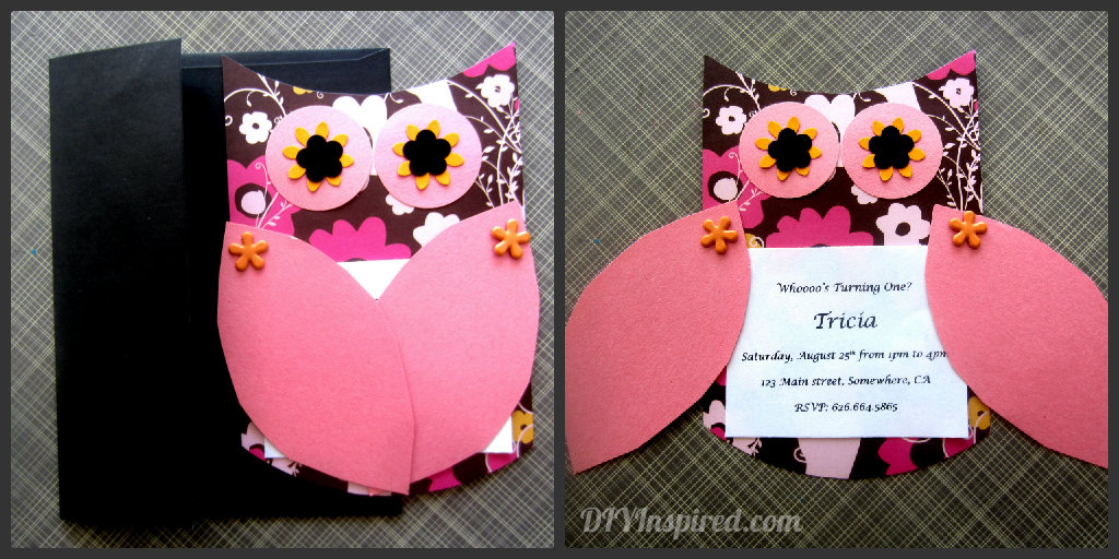 Owl Themed Invitations DIY Inspired