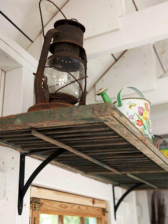 Repurposed Shutters - DIY Inspired